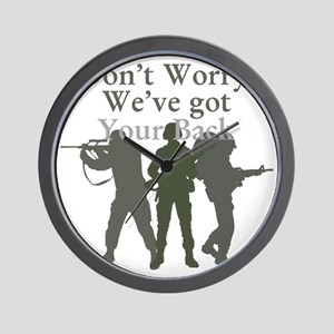 Dont Worry, Weve Got Your Back Wall Clock