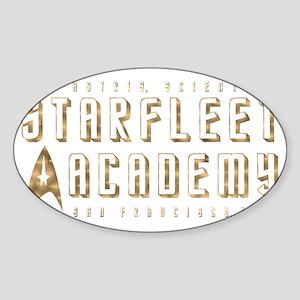 StarFleet Gold Sticker (Oval)