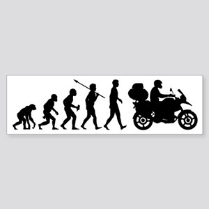 Motorcycle-Traveller2 Sticker (Bumper)