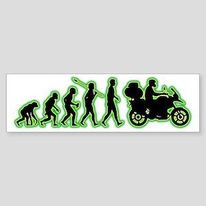 Motorcycle-Traveller4 Sticker (Bumper)