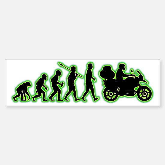 Motorcycle-Traveller4 Sticker (Bumper)
