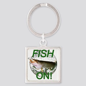 Musky fish on! Square Keychain