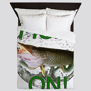 Musky fish on! Queen Duvet
