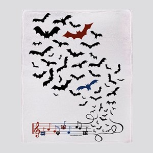 Bat Music Design Throw Blanket
