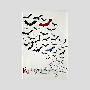 Bat Music Design Rectangle Magnet