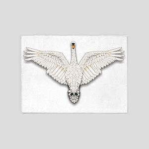 Beadwork Mute Swan 5'x7'Area Rug