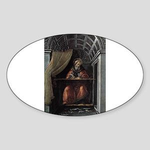 St. Augustine in His Cell - Botticelli Sticker (Ov