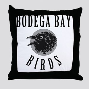 Bodega-Bay-School-Birds Throw Pillow