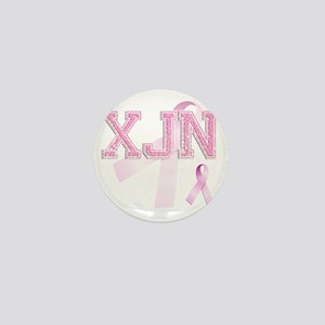 XJN initials, Pink Ribbon, Mini Button
