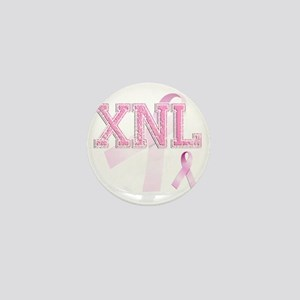 XNL initials, Pink Ribbon, Mini Button