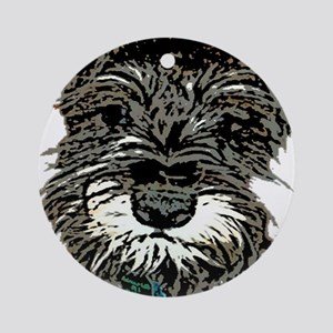 Mini Schnauzer Ornament (Round)