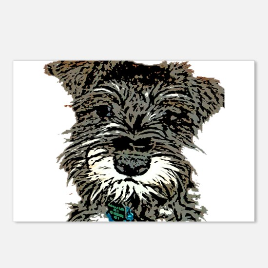 Mini Schnauzer Postcards (Package of 8)