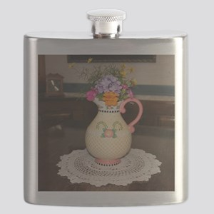 Mary Engelbreit Pitcher with Flowers Flask