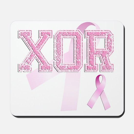 XOR initials, Pink Ribbon, Mousepad