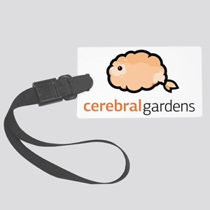 Cerebral Gardens (Orange/Black) Large Luggage Tag
