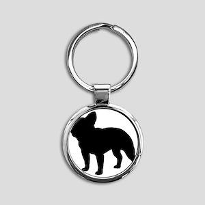 frenchbulldog Round Keychain