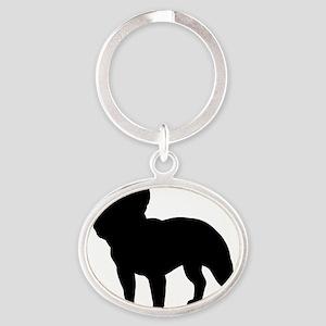 frenchbulldog Oval Keychain