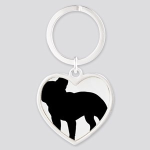 frenchbulldog Heart Keychain