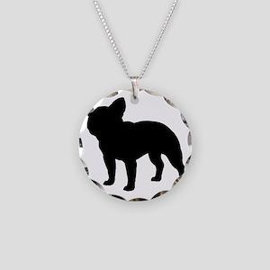 frenchbulldog Necklace Circle Charm