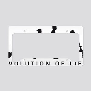 Evolution Life man B License Plate Holder