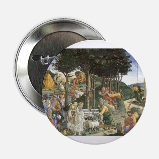 """The Trials of Moses - Botticelli 2.25"""" Button"""