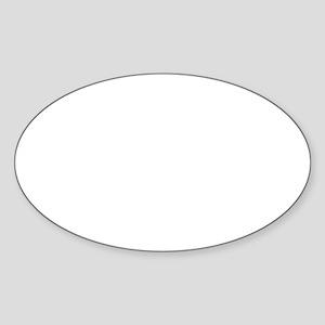 Starfleet Wht Sticker (Oval)