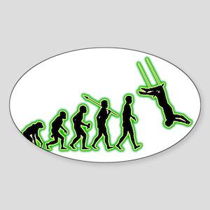 Trapeze4 Sticker (Oval)