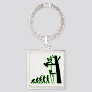 Tree-Climbing4 Square Keychain