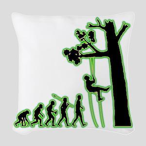Tree-Climbing4 Woven Throw Pillow