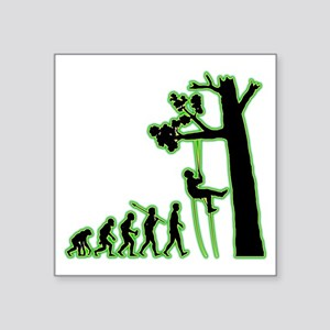 "Tree-Climbing4 Square Sticker 3"" x 3"""