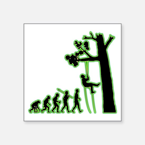 "Tree-Climbing4 Square Sticker 3"" x 3"""