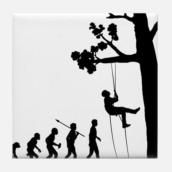 Tree-Climbing Tile Coaster