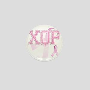 XQF initials, Pink Ribbon, Mini Button