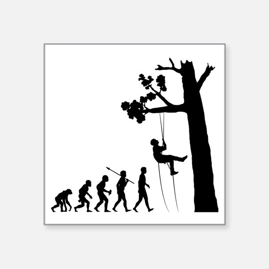 "Tree-Climbing2 Square Sticker 3"" x 3"""