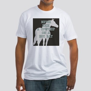 Cowchip Quote Fitted T-Shirt