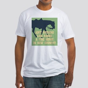 Fine Horse Quote Fitted T-Shirt
