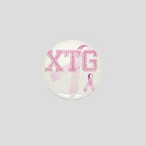 XTG initials, Pink Ribbon, Mini Button
