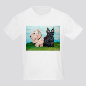 Scottish Terrier Companions Kids Light T-Shirt