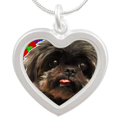 Voltaire square Silver Heart Necklace