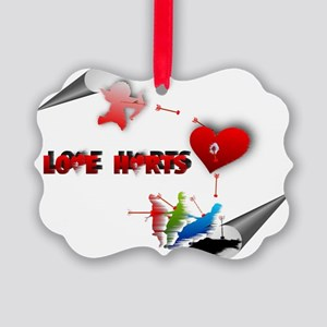 Love really hurts Picture Ornament