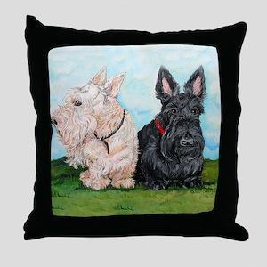 Scottish Terrier Companions Throw Pillow
