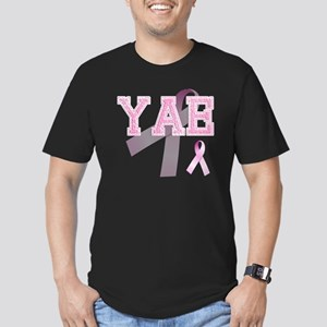 YAE initials, Pink Rib Men's Fitted T-Shirt (dark)