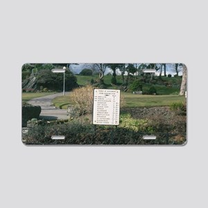 Dunoon Argyll Fingerpost Aluminum License Plate