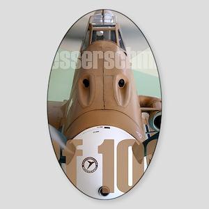 Bf 109 Sticker (Oval)