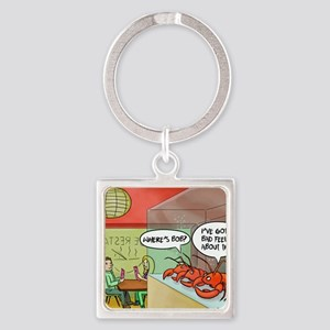 A bad feeling Square Keychain