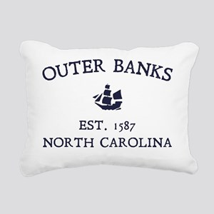 Outer Banks Established  Rectangular Canvas Pillow