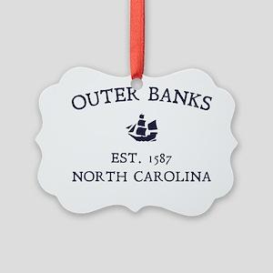 Outer Banks Established 1587 Picture Ornament