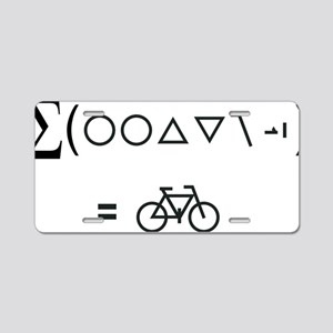 BikeMaths Aluminum License Plate