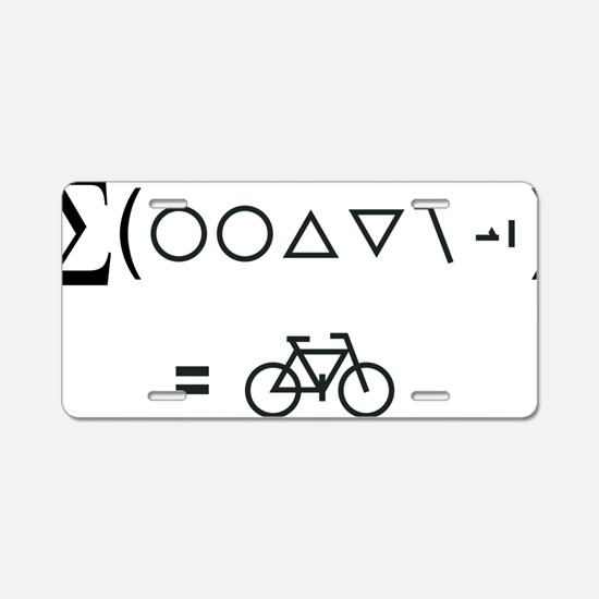 BikeMaths Aluminum License Plate