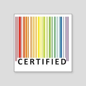 "Certified Square Sticker 3"" x 3"""